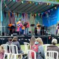 Jenny, Tim and the Café Jam band.