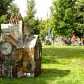 The Scrap Church - it is about four feet high.