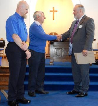 David Litchfield, Paul Fuller and the Moderator, Peter Meek