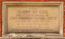 Foundation Stone - referring to John Robinson